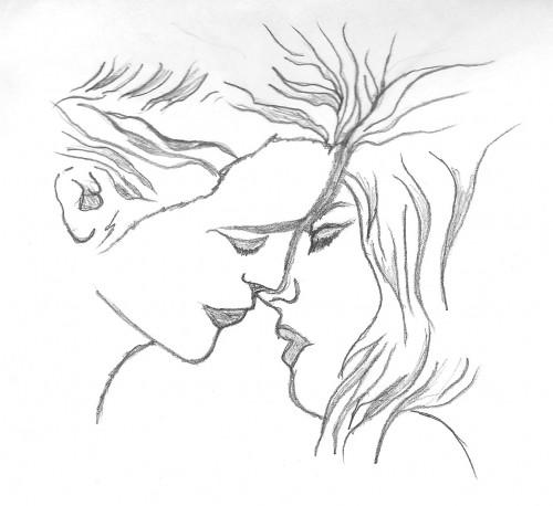 Pencil Sketch of Lovers Lovers Sketch Pencil
